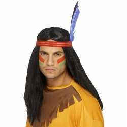 Indianen pruik veren