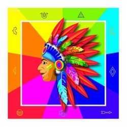 Indianen servetten 33x33cm