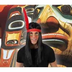 Indianen verkleed pruik veer heren