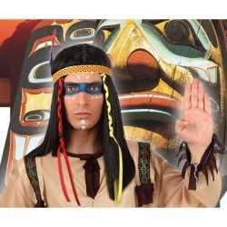 Indianen verkleed pruik veren heren
