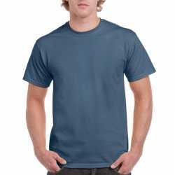 Indigoblauw katoenen shirt volwassenen