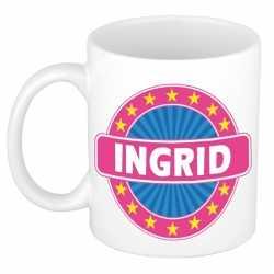Ingrid naam koffie mok / beker 300 ml