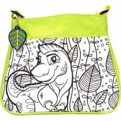 Inkleurbare dinosaurus tas kinderen