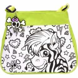 Inkleurbare zebra tas kinderen