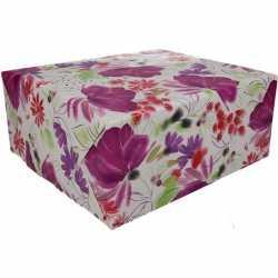 Inpakpapier bloemen motief 200 bij 70 op rol