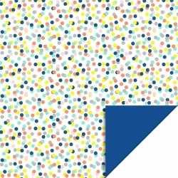 Inpakpapier/cadeaupapier confetti 200 bij 70 gekleurd