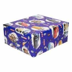 Inpakpapier/cadeaupapier disney cars 200 bij 70 blauw