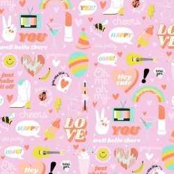 Inpakpapier/cadeaupapier girlpower 200 bij 70 roze