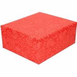 Inpakpapier/cadeaupapier rood motief 200 bij 70