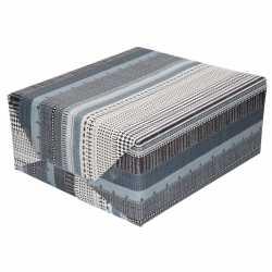 Inpakpapier/cadeaupapier wit/grijs high tech print 200 bij 70