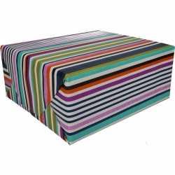 Inpakpapier gekleurd strepen 200 bij 70 op rol type