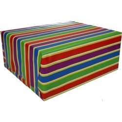Inpakpapier gekleurde strepen 200 bij 70 op rol type 1