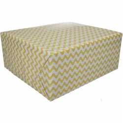 Inpakpapier grafisch geel 200 bij 70 op rol