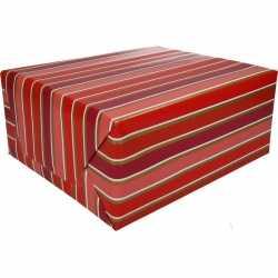 Inpakpapier rood/roze strepen 200 bij 70 op rol type 7