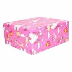 Inpakpapier roze elfjes thema 200 bij 70