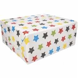 Inpakpapier sterren motief 200 bij 70 op rol