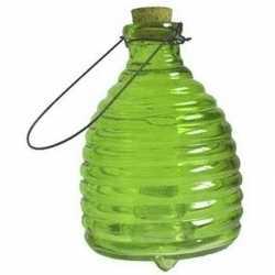 Insectenval/wespenvanger van glas groen 20