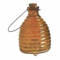 Insectenval/wespenvanger van glas oranje 20