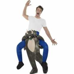 Instap dierenpak kostuum dinosaurus volwassenen