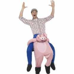 Instap dierenpak kostuum varken volwassenen