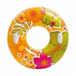 Intex zwemband oranje bloemen 97