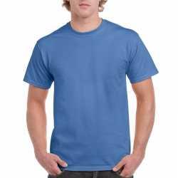 Irisblauw katoenen shirt volwassenen