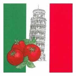 Italië servetten 50 stuks