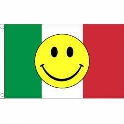 Italiaanse vlag smiley 90 bij 150