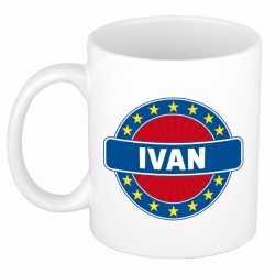Ivan naam koffie mok / beker 300 ml