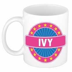 Ivy naam koffie mok / beker 300 ml