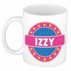 Izzy naam koffie mok / beker 300 ml
