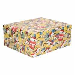 Kerst inpakpapier minions geel 200 bij 70 op rol