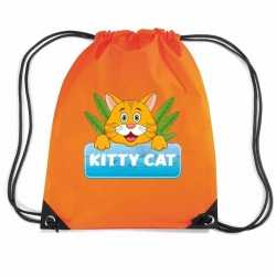 Kitty cat katten rugtas / gymtas oranje kinderen