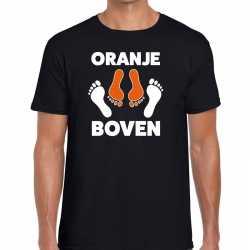 Koningsdag zwart t shirt oranje boven heren