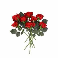 Kunstbloem rode roos 30 8 stuks