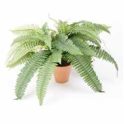 Kunstplant varen groen in terracotta pot 45