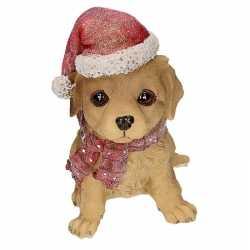 Labrador beeldje kerstmuts
