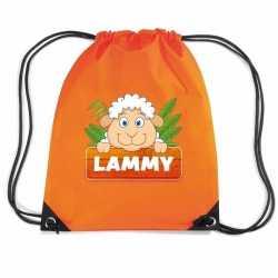 Lammy het schaap rugtas / gymtas oranje kinderen