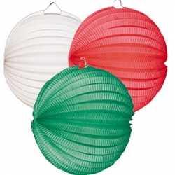 Lampionnen groen wit rood