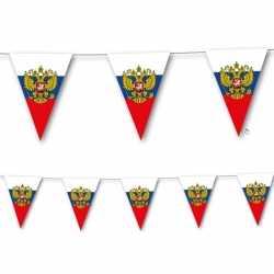 Landen thema versiering rusland vlaggenlijn 3,5 meter