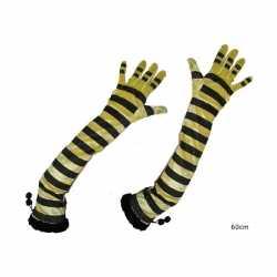 Lange bijenprint handschoenen
