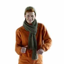 Lange gebreide sjaal franjes