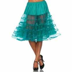 Lange jade groene petticoat dames