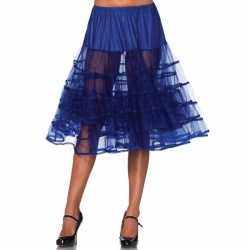 Lange kobalt blauwe petticoat dames