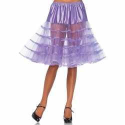 Lange lavendel paarse petticoat dames