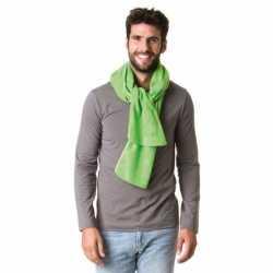 Lange lime groene fleece sjaal