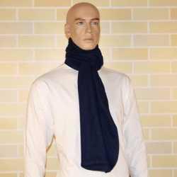 Lange navy blauwe fleece sjaal