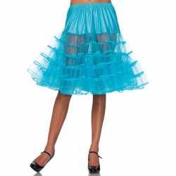 Lange turquoise petticoat dames