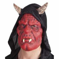 Latex duivel masker diablo volwassenen