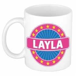 Layla naam koffie mok / beker 300 ml